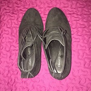 Franco Sarto black suede Boots
